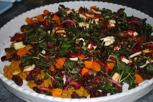 Kombacha and date salad with red watercress - it's gorgeous!