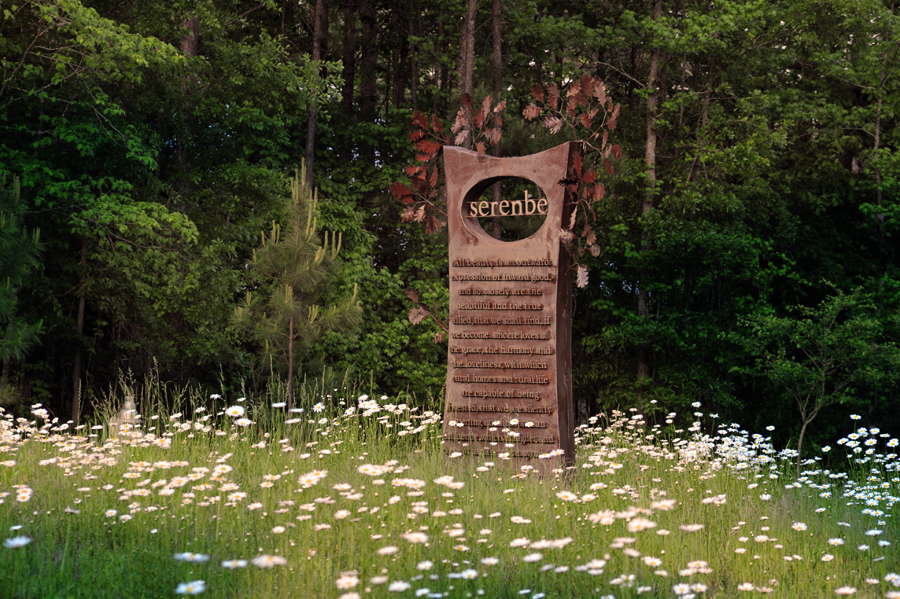 Serenbe sign meadow- Greg Newington