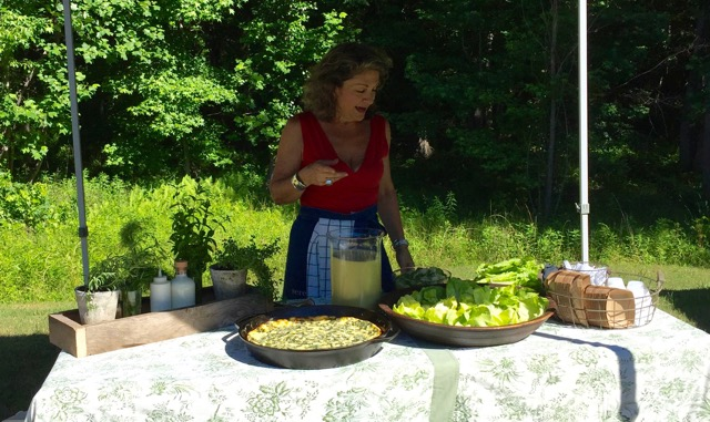 marie cooking demo farmers market june 2016
